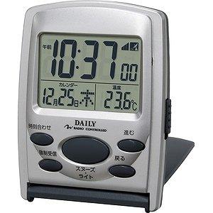 【DAILY】デイリーデジタル時計ジャストウェーブR107DN(シルバーメタリック色)・8RZ107DN19