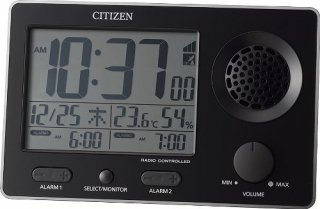 【RHYTHM】デジタル時計大音量アラームスーパークリアトーンFSR(黒)・8RZ149SR02