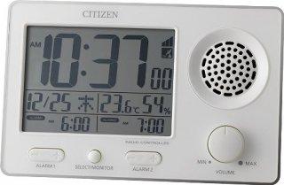 【RHYTHM】置き時計デジタル時計スーパークリアトーンFSR(白)・8RZ149SR03