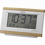 【CITIZEN】デジタル時計電子音アラームパルデジットキング(薄茶木目仕上)・8RZ161-007