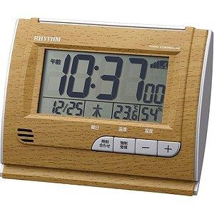 【RHYTHM】デジタル時計その他特長商品フィットウェーブD165(茶色)・8RZ165SR07