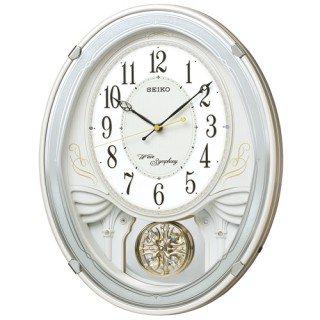 【SEIKO】掛け時計 アミューズ時計(白パール塗装)・AM258W