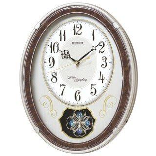【SEIKO】掛け時計 アミューズ時計(薄金色パール塗装)・AM259B