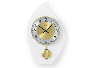 【AMS】掛け時計 Design(クローム)・AMS7150