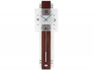 【AMS】掛け時計 Design(ウォールナット)・AMS7303