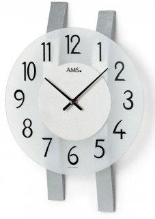【AMS】掛け時計 Design(シルバー)・AMS9202