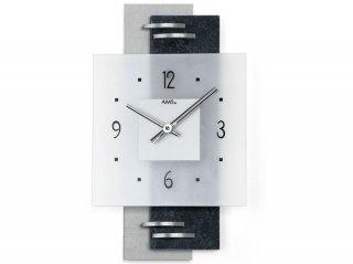 【AMS】掛け時計 Design(シルバー)・AMS9245