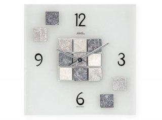 【AMS】掛け時計 Design(シルバー)・AMS9276