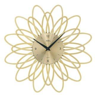 【AMS】掛け時計 (ゴールド)・AMS9361