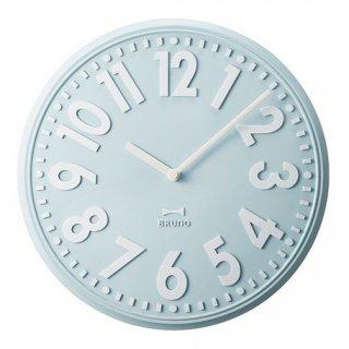 【BRUNO】ブルーノ掛け時計エンボスウォールクロック(ライトブルー)・BCW013-LBL