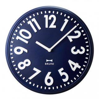 【BRUNO】ブルーノ掛け時計エンボスウォールクロック(ネイビー)・BCW013-NV