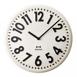 【BRUNO】ブルーノ掛け時計エンボスウォールクロック(ホワイト)・BCW013-WH