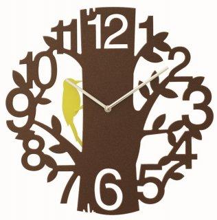 【インターフォルム】掛け時計 PICUS [ピークス](ブラウン)・CL-5743BN