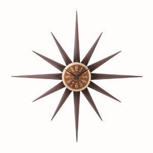 【インターフォルム】掛け時計 AGULHA [アグリア](ブラウン)・CL-7541BN