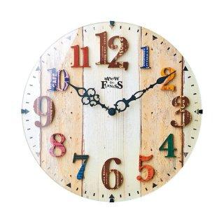 【インターフォルム】電波掛け時計 AMBERG [アンベルク](ナチュラル)・CL-8931