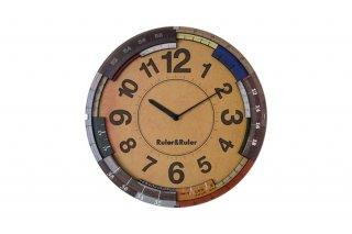 【インターフォルム】電波掛け時計 RULER&RULER [ルーラールーラー](ナチュラル)・CL-9584