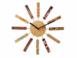 【インターフォルム】掛け時計 BRIC [ブリック](ナチュラル)・CL-9587NA