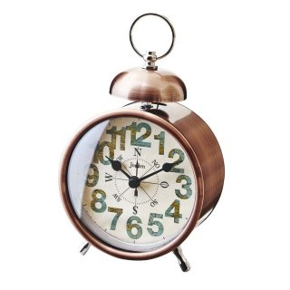 【インターフォルム】置き時計 Compass(ブロンズ)・CL-9592BR