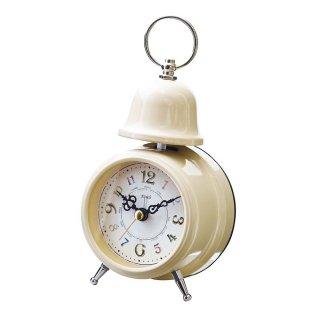 【インターフォルム】置き時計 Rouille(アイボリー)・CL-9708IV