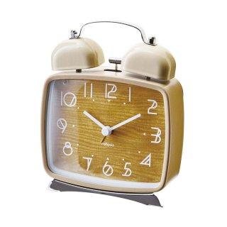 【インターフォルム】置き時計 Lund(ベージュ)・CL-9709BE