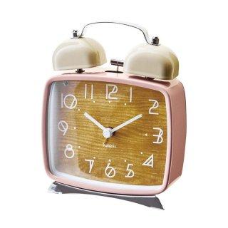 【インターフォルム】置き時計 Lund(ピンク)・CL-9709PK