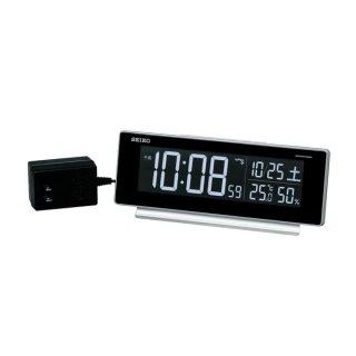 【SEIKO】シリーズC3 目覚まし 電波 交流式デジタル時計 掛け置き兼用 USBポート付き ・DL207S