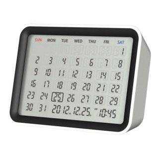 【MONDO】目覚まし時計 デジタルカレンダークロック(ホワイト)・DT06-WH
