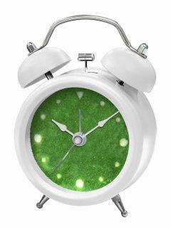 【誠時】置き時計アナログ置き時計GrassClock(グラスクロック)(ホワイト)・GG-015WH
