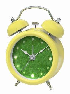 【誠時】置き時計アナログ置き時計GrassClock(グラスクロック)(イエロー)・GG-015YE
