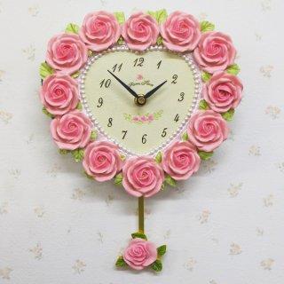 【GOLDCREST】掛け時計ローズ(ホワイト)・GO-1131