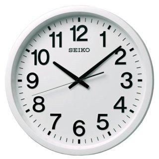 【SEIKO】オフィス向け衛星電波時計 セイコースペースリンク 掛け時計(ホワイト)直径390mm・GP202W