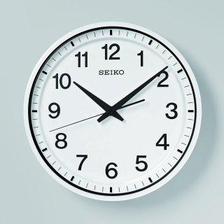 【SEIKO】オフィス向け衛星電波時計 セイコースペースリンク 掛け時計(ホワイト)・GP214W