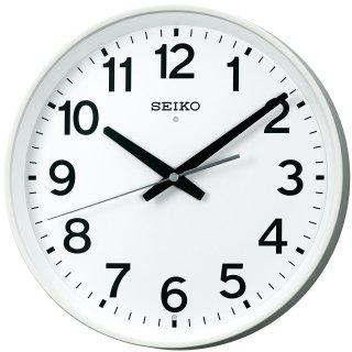 【SEIKO】掛け時計 電波 オフィスタイプ(白塗装)・KX317W