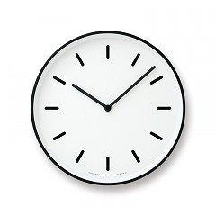 【Lemnos】CASA 掛け時計 MONO Clock(ホワイト)・LC10-20BWH