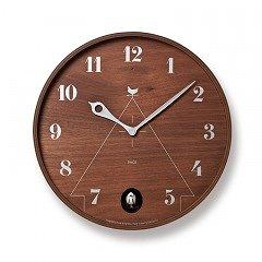 【Lemnos】CASA 掛け時計 PACE(ブラウン)・LC11-09BW