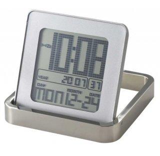 在庫限り!【IDEA LABEL】イデアレーベル 置き時計 メタルフレーム アラームクロック(ホワイト)・LCA057-W