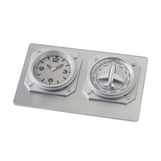 【IDEA LABEL】イデアレーベル 置き時計 ワールドタイムクロック(シルバー)・LCD023-SY