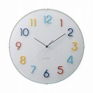 【IDEA LABEL】イデアレーベル 掛け時計 電波ラウンドウォールクロック(カラフル)・LCR113-CF