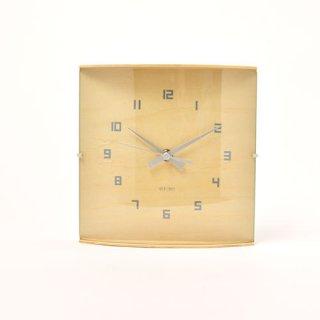 【IDEA LABEL】イデアレーベル 掛け時計 ウッドガラスクロックグランデ(ナチュラル)・LCW027-NW