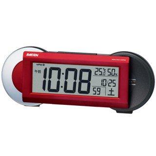 【PYXIS】デジタル時計 ライデン(赤メタリック塗装)・NR533R
