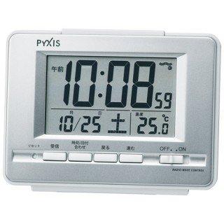 【PYXIS】デジタル時計 ライデン(銀色メタリック塗装)・NR535W
