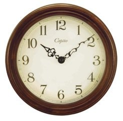 【CAPITO】掛け時計 Antique Wooden Wall Clock(ブラウン)・OP-CAPWOOD-BR