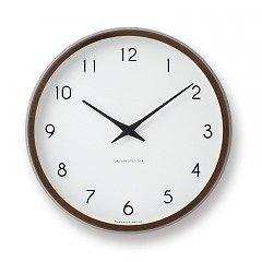 【Lemnos】CASA 電波掛け時計 Campagne(ブラウン)・PC10-24WBW