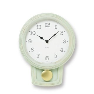 【Lemnos】Plain 掛け時計 Pendule(グリーン)・PC11-22GN