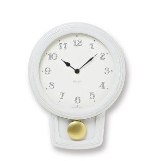 【Lemnos】Plain 掛け時計 Pendule(ホワイト)・PC11-22WH