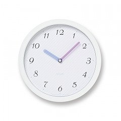 【Lemnos】Plain 掛け時計 chouchou(ホワイト)・PC11-24LWH