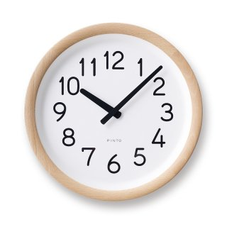 【Lemnos】DESIGN OBJECTS 掛け時計 Day To Day Clock(ナチュラル)・PIL12-10NT