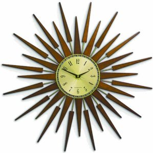 【NEWGATE】掛け時計 Sunburst Brown(ブラウン)・PLUTO
