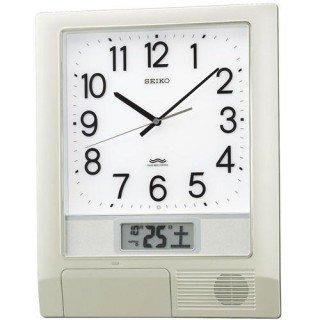 【SEIKO】掛け時計 オフィスタイプ(銀色メタリック塗装)・PT201S