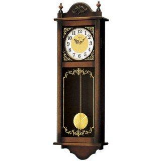 【SEIKO】掛け時計 報時(茶木地塗装)・RQ307A